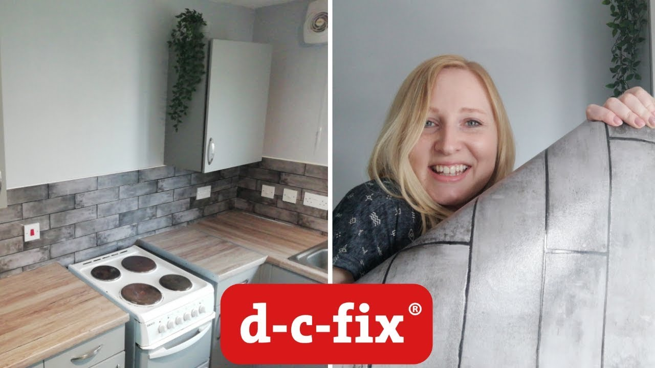 Budget Kitchen Makeover Vlog Applying D C Fix And 3d Tile Wallpaper Create Your World