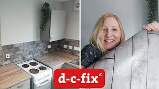 BUDGET KITCHEN MAKEOVER VLOG | Applying D-C-FIX and 3D tile wallpaper | Create Your World