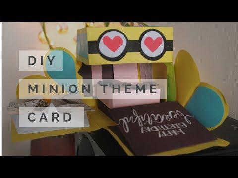 DIY: Minion Explosion Box   Box Card   Easy birthday Card   Handmade Card Idea for friendship Day
