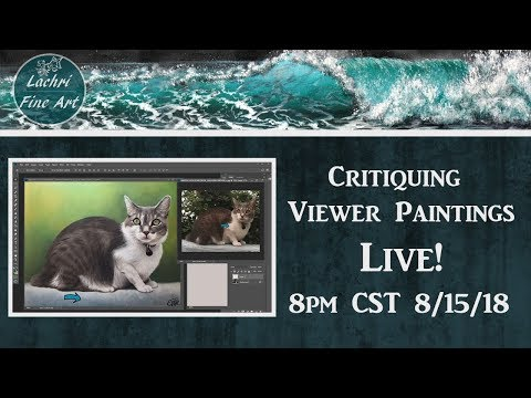 Viewer painting Critiques & Art Tips Livestream - Lachri