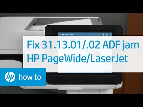 Fixing 31.13.01/.02 ADF Jam Errors | HP PageWide MFP/LaserJet MFP M500 and M600 Printers | HP