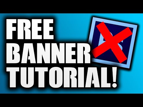 How To Make A YouTube Banner Without Photoshop! (Pixlr Tutorial)