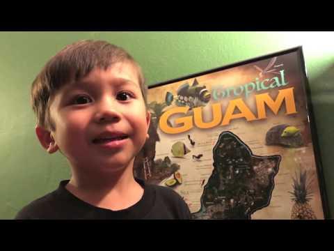 gerard aflague's tropical guam poster (map)