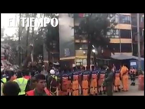 Equipo de rescate japonés canta el himno de México   EL TIEMPO