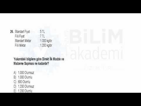 Türkiye Geneli Deneme Sınavı Kpss - A (Alan Bilgisi) Muhasebe Soru Çözümleri