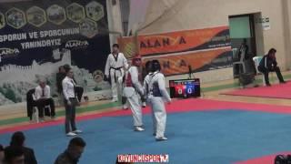 68kg N. Can Sezgin vs H. Tayyip Varol (2017 Turkish TKD Championships -21)