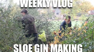 Sloe Gin Making | Lily Pebbles Weekly Vlog