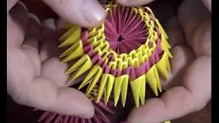 Модульное оригами. Начало сборки.