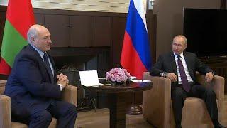 Беларусь должна сама РАЗОБРАТЬСЯ! Первые заявление на переговорах Путина и Лукашенко