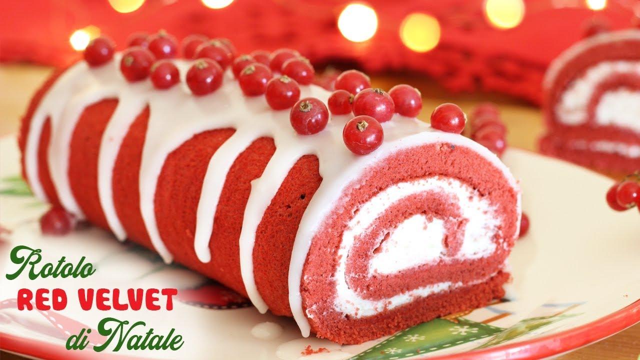 Tronchetto Di Natale Menu Di Benedetta.Rotolo Red Velvet Di Natale Ricetta Facile Roll Recipe