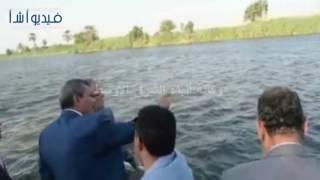 بالفيديو : محافظ المنيا يبحث مع وفد حماية النيل مشاكل الري ويتفقد التعديات علي نهر النيل