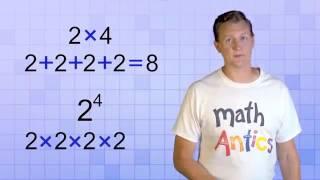 Math Antics - Expoฑents Intro (My Edited Video)