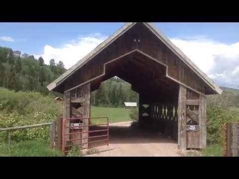 Charming Rustic Covered Bridge in Smoot Wyoming