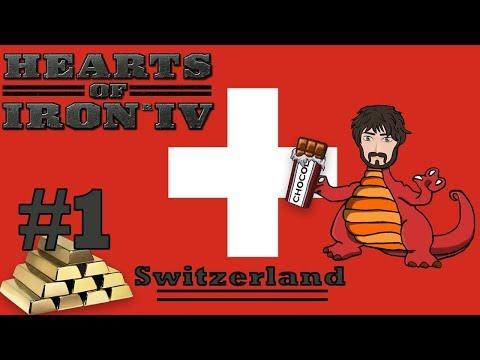 Hearts of Iron 4 - Kaiserreich | Switzerland Domination #1