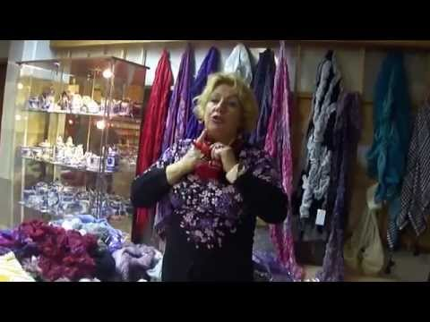 Как красиво завязать платки, шарфы