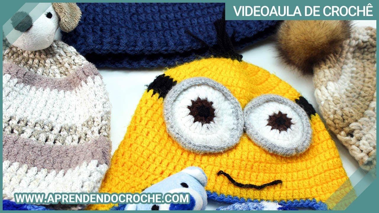 Tabela de Medidas para Gorros de Crochê - Aprendendo Crochê - YouTube d3f3de9d5db