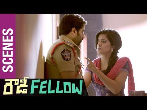 Rowdy Fellow Telugu Movie Scenes | Vishakha Singh Love warning to Nara Rohit | Rao Ramesh