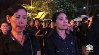 กาญจนบุรี จุดเทียนถวายความอาลัย 13ตุลาคม2560