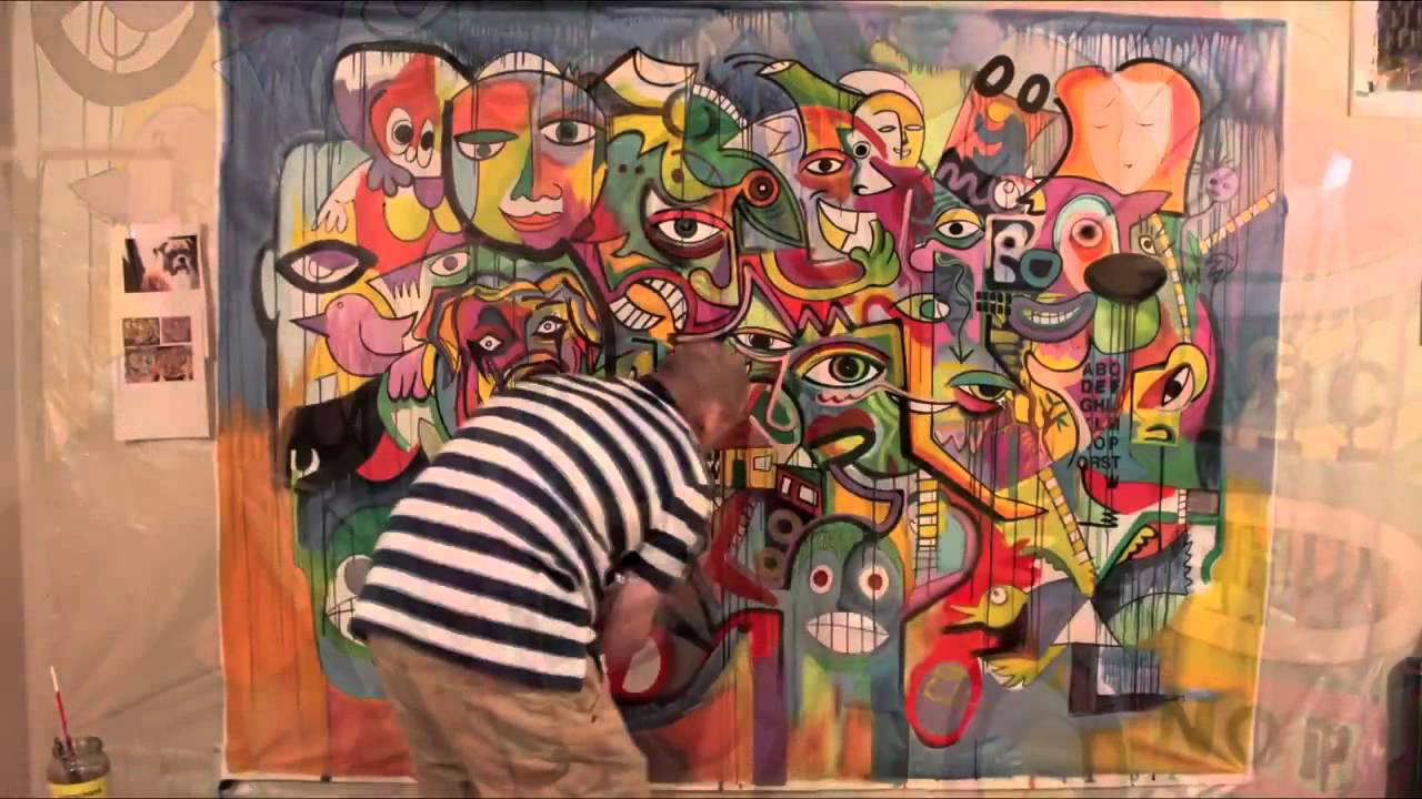 Wall Mural Painting By RaeArt Using Acrylic Paints Part 20