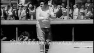 1935 Major League Baseball Spring Training Archival Newsreel Footage PublicDomainFootage.com