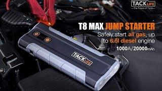 TACKLIFE T8 MAX Jump Starter  1000A Peak 20000mAh  review and use 2019