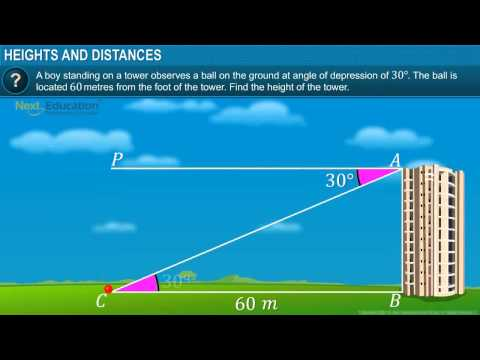CBSE X Maths Some Applications of Trigonometry - Heights and Distance