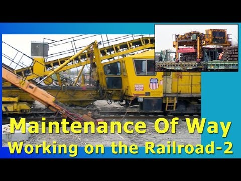 Railroad Maintenance Of Way Equipment In Action