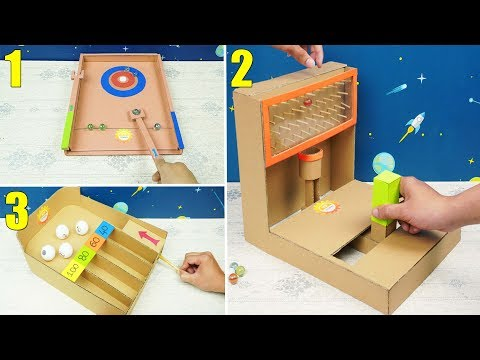 3 Amazing Cardboard Crafts Games You Can DIY