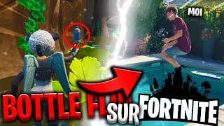 TU PERDS - YOU PAYES! 'BOTTLE FLIP' CHALLENGE on FORTNITE!