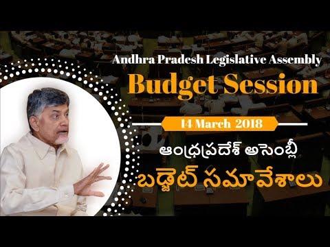 CM Nara Chandrababu Naidu addresses Andhra Pradesh Legislative Assembly on 14th March 2018