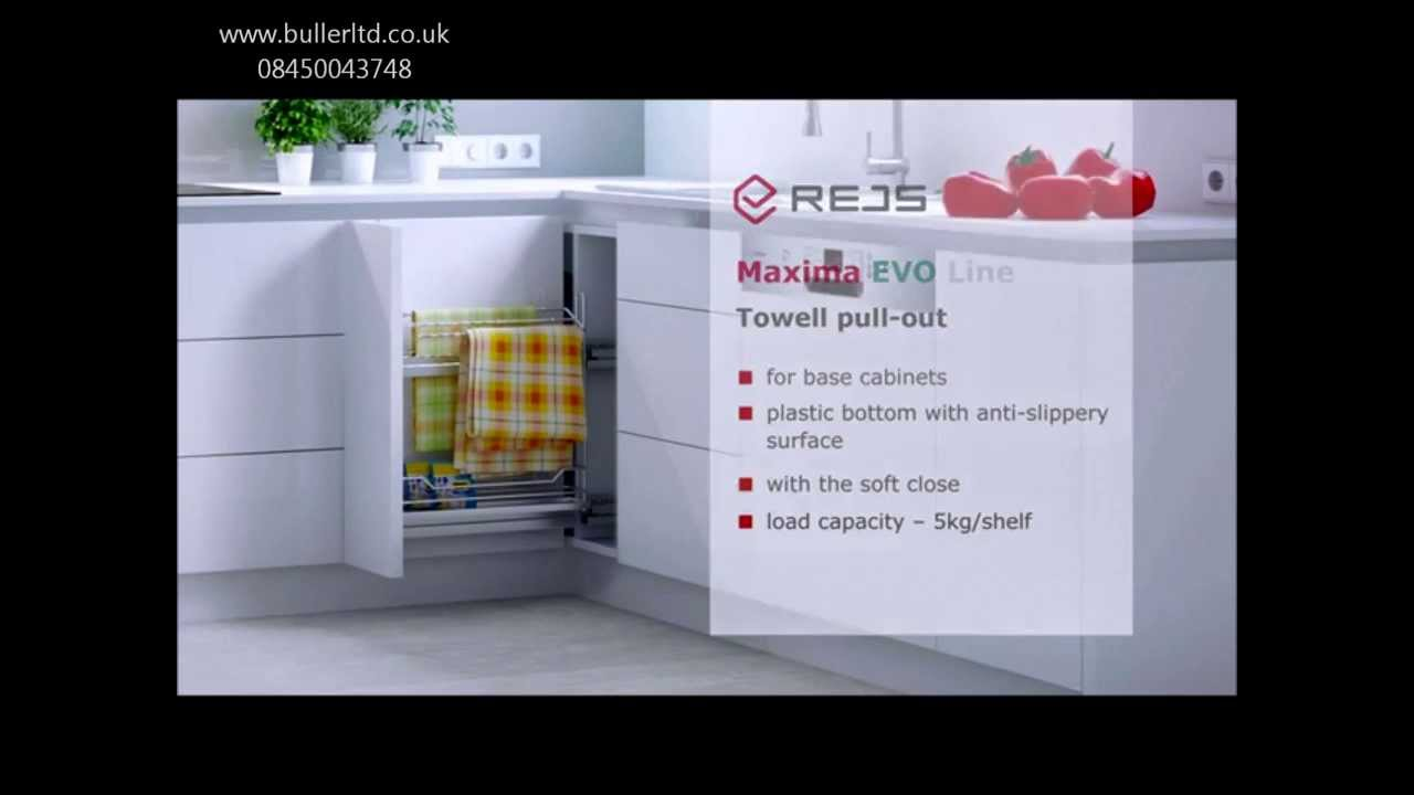 pull out unit for kitchen base cabinets with towel rails and soft close