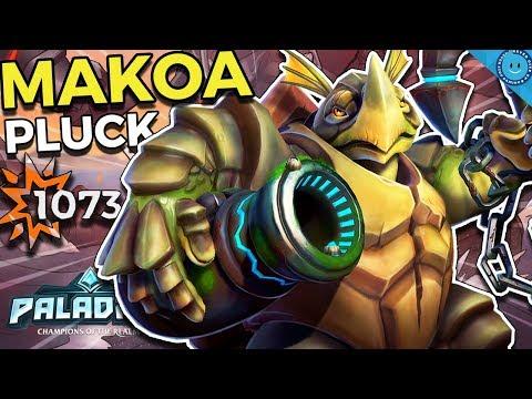 BIG BONUS DAMAGE MAKOA! 2-SHOT FLANKS! Pluck Makoa Gameplay and Build! (Paladins)