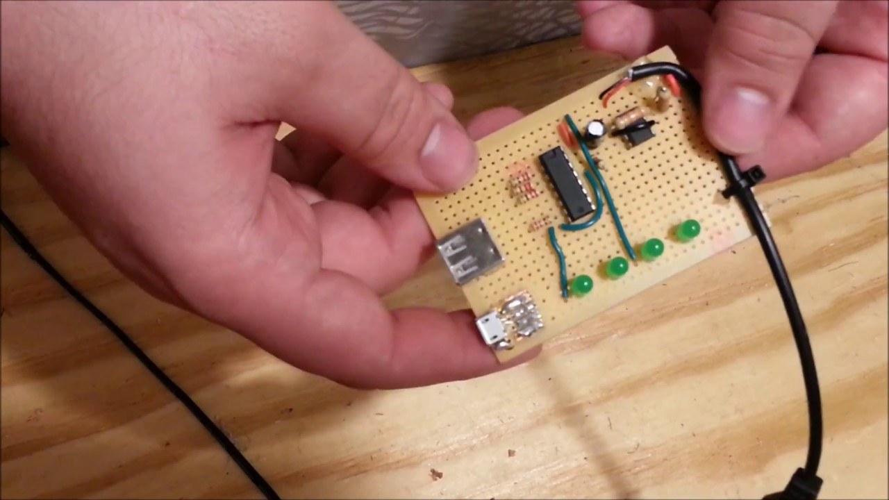 Diy Usb Cable Tester Youtube Rj45 Network Circuit Schematic