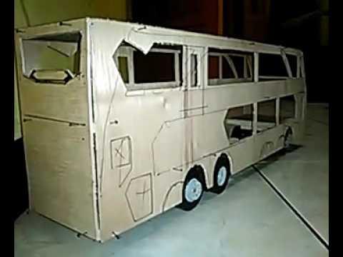 Miniatur bus sdd terbuat dari triplek setengah jadi part 1 ...