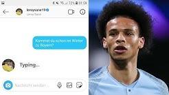 Sane auf Instagram anschreiben wann er zu Bayern wechselt