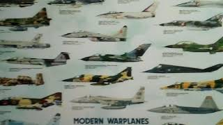 posters of Modern Airplanes at at Cypress College where i sm tacking ATC132 private pilot
