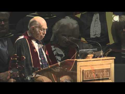 Renata Hornstein and Michal Hornstein, 2014 Concordia honorary doctorate