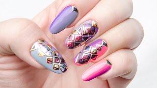 Декор ногтей - Витражная мозаика арт .260-08