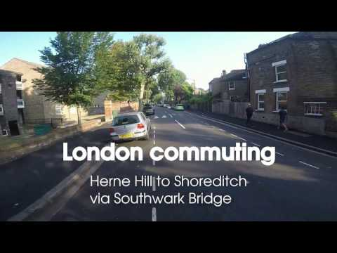 London cycle commute Herne Hill to Shoreditch
