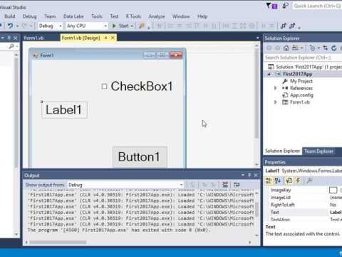 Visual Basic Using Visual Studio 2017