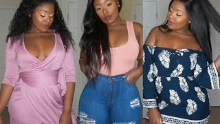 Curvy/Thick Girl Try-on haul Gitionline, Rosegal & Happiness Boutique + Giveaway