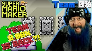 TEAM 0.00% IS BACK?! - Super Mario Maker - OSHIKOROSU TAKES ON TEAM 0% LEVELS!