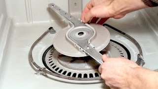 How to remove a stuck sprayer arm - WHIRLPOOL Dishwasher Q&A