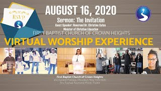 August 16, 2020: Virtual Worship Service