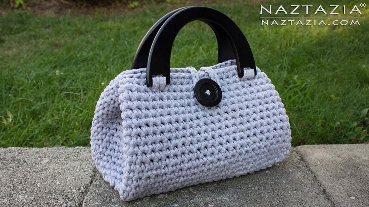 diy tutorial crochet easy casual friday handbag with lining lined purse bag bolsa borsa youtube [ 1280 x 720 Pixel ]