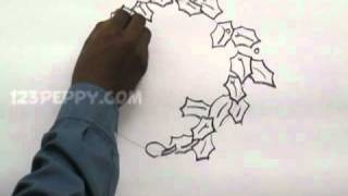 How to Draw a Christmas Wreaths
