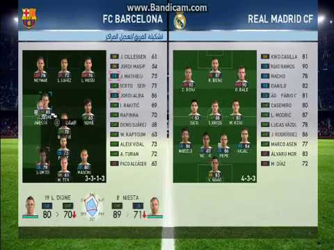 Best Formation For Barcelona Pes 2017 افضل تشكيلة لبرشلونة Pes 2017 Youtube