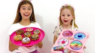 Nastya dan stacy mengganti mainan untuk permen dan Nastya saloon untuk putri