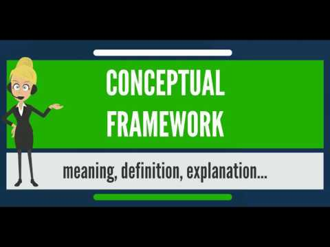 What is CONCEPTUAL FRAMEWORK? What does CONCEPTUAL FRAMEWORK mean?