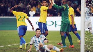 La technique très spéciale du Brésil pour stopper Lionel Messi | Oh My Goal